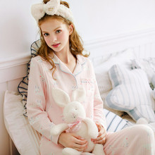 Monthly household clothing in autumn and winter pure cotton postpartum November pregnant women breast-feeding maternal pajamas during pregnancy