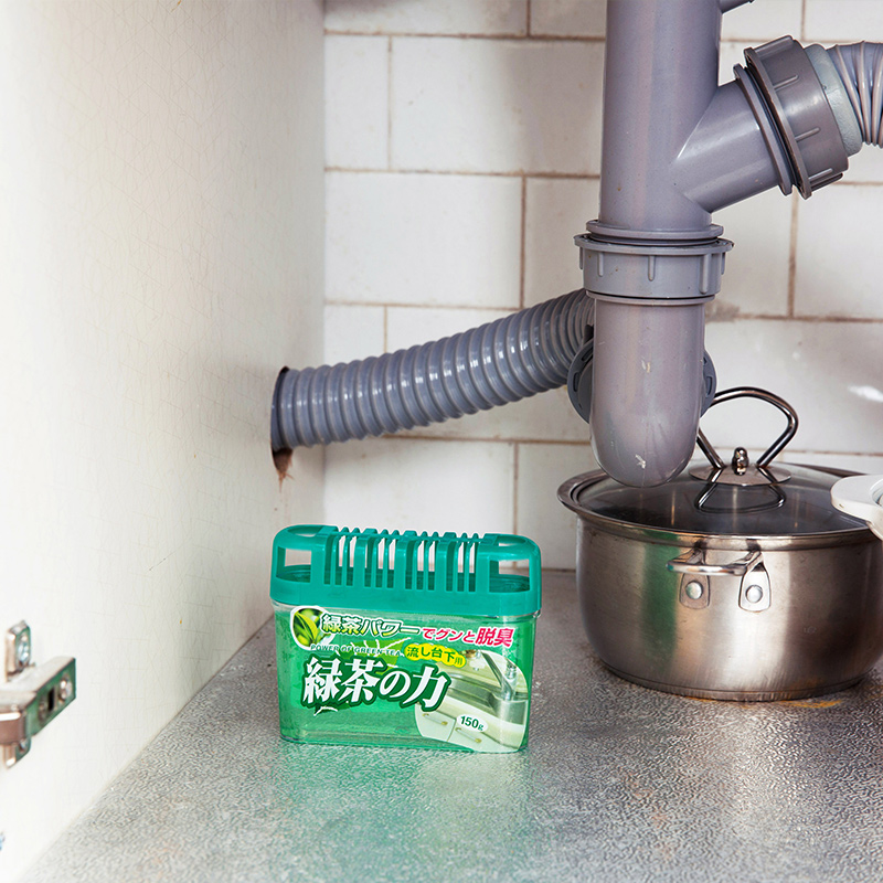 日本KOKUBO厨房除臭剂橱柜除臭味剂固体芳香剂鞋柜水槽台下消臭剂