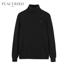 Shopping mall with the same paragraph of the male bird men's high collar cashmere youth sweater cashmere sweater B1EB84X16