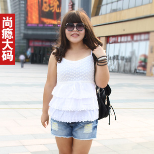 BabyFat fat mm fertilizer to increase the code was thin A word flounced cotton lace camisole wild