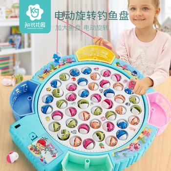 电动钓鱼磁性宝宝小猫早教小孩玩具