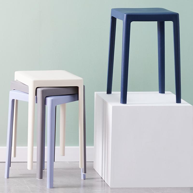 塑料凳子加厚成人家用客厅简约现代餐桌高板凳经济型北欧圆凳椅子