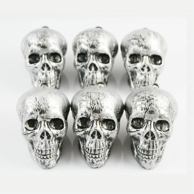 Halloween decorations Ghost Festival bar supermarket KTV haunted house props prank doll plastic skull head