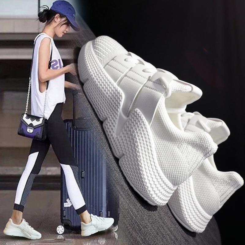 休闲运动鞋女韩版ulzzang原宿百搭2018夏季新款透气小白跑步鞋子