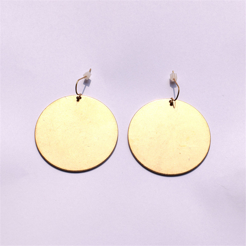 European and American Jewelry Earrings minimalism style round pieces simple and versatile popular Earrings matte gold earrings