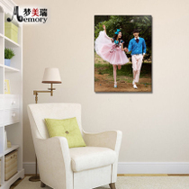 30-inch wedding photo photo production of glass crystal prints ice carving prints personality production amplification