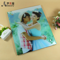 20 inch crystal photo frame home fresco photo frameless hanging ice carving prints photo zoom