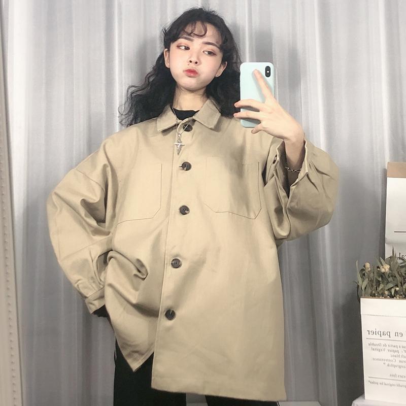 [苏菲家潮人馆短外套]工装外套女春装2019新款港风复古b月销量3117件仅售51.8元