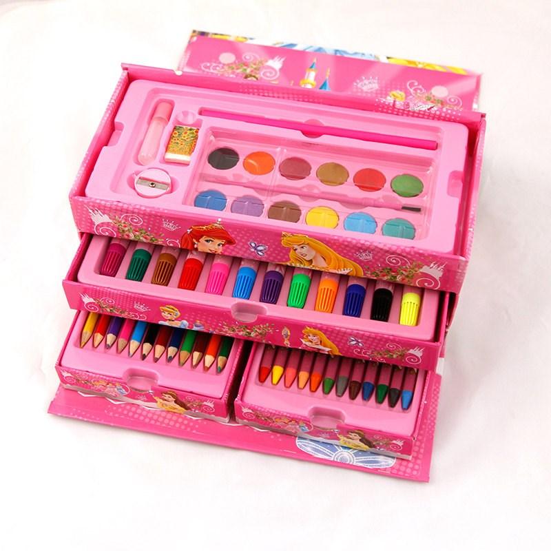 2018新款儿童益智绘画文具礼盒套装画画玩具画笔蜡笔水彩笔小学生