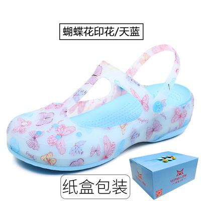 Màu thạch dép nữ mùa hè dép giày lỗ vườn dép nữ phụ nữ thạch giày miễn phí vận chuyển