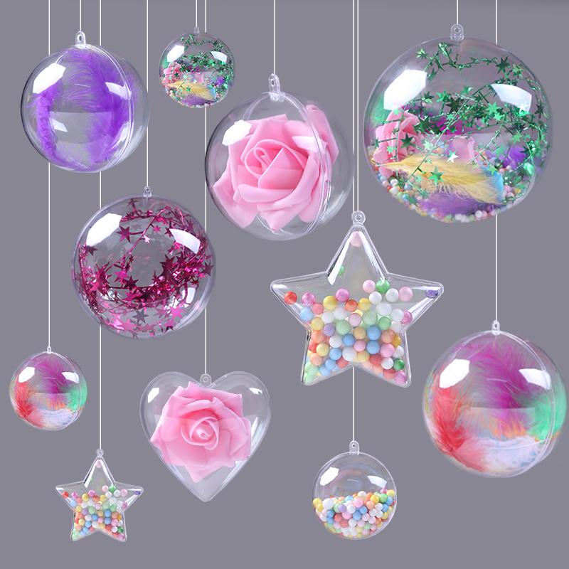 吊顶装饰透明球塑料球空心圆球店铺橱窗吊球三八商场装饰布置挂饰