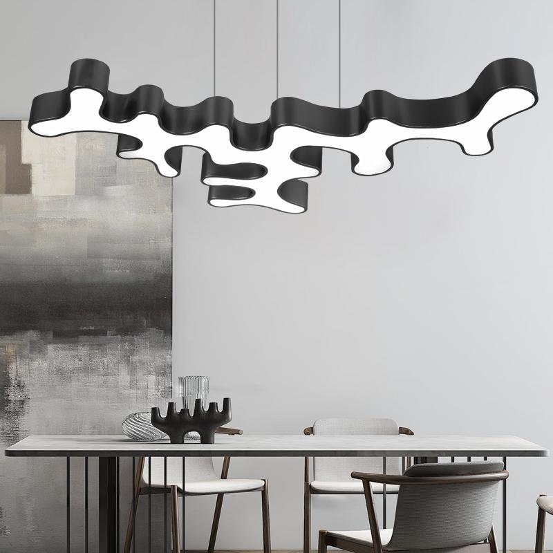 法斯琳个性异型吊灯时尚现代餐厅灯创意书房LED吊灯简约造型灯