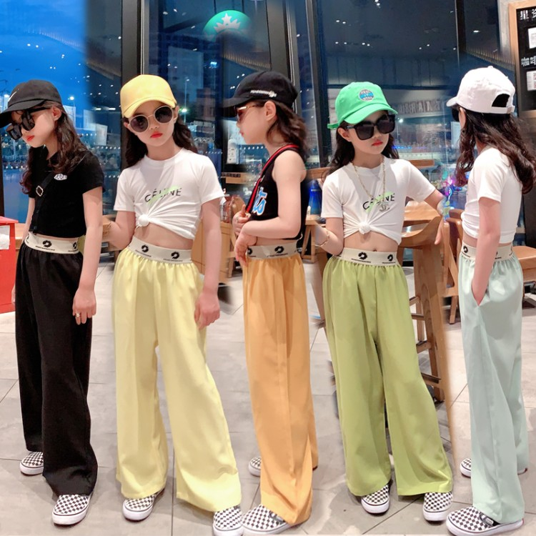 Counter famula wide leg pants 9-year-old female 4-year-old Anhui Province 140cm 160cm 5-year-old 6-year-old conventional B-type 7-year-old