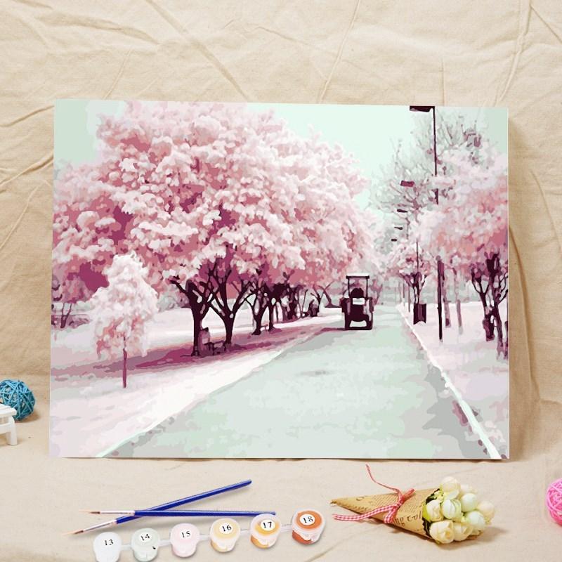 数字油画星空 梵高手绘DLY油彩画手工数码邮画装饰画DIY/数字油画