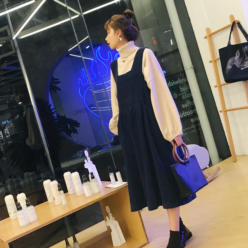 大码女装胖mm时髦200斤减龄秋装显瘦毛衣连衣裙微胖洋气两件套装