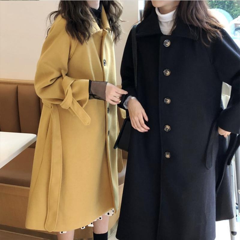 2018秋冬新款大码女装微胖妹妹显瘦洋气最爱中长款毛呢外套200斤