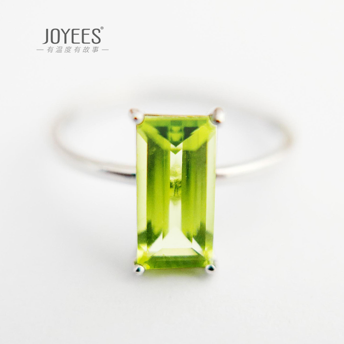 Joyees early spring 18K Gold olivine ring female national style Creative Design Ring Jewelry Gift