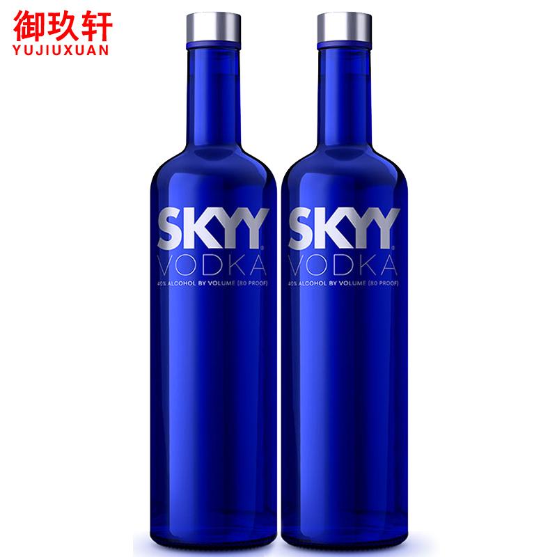 洋酒 SKYY深藍牌 深藍伏特加原味 750ml^~2雞尾酒基酒
