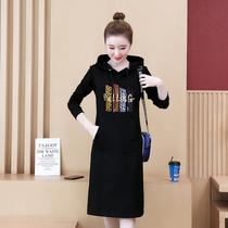 胖MM裙子2020新款女装春秋季胖妹妹大码连衣裙秋天30到40岁20至25