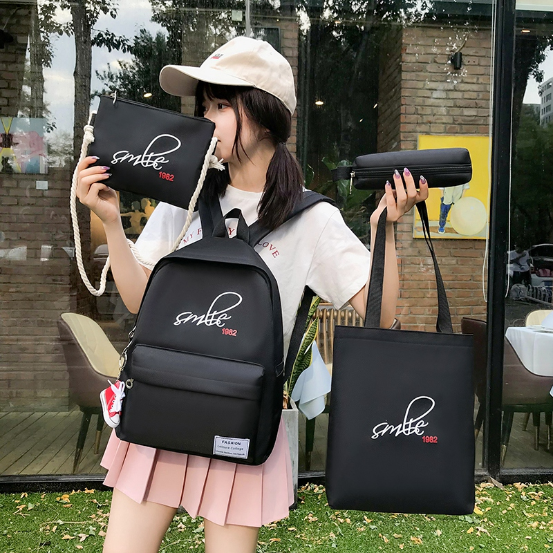 Schoolbag female junior high school schoolbag Japanese and Korean version small fresh and simple versatile college Style High School Student Backpack