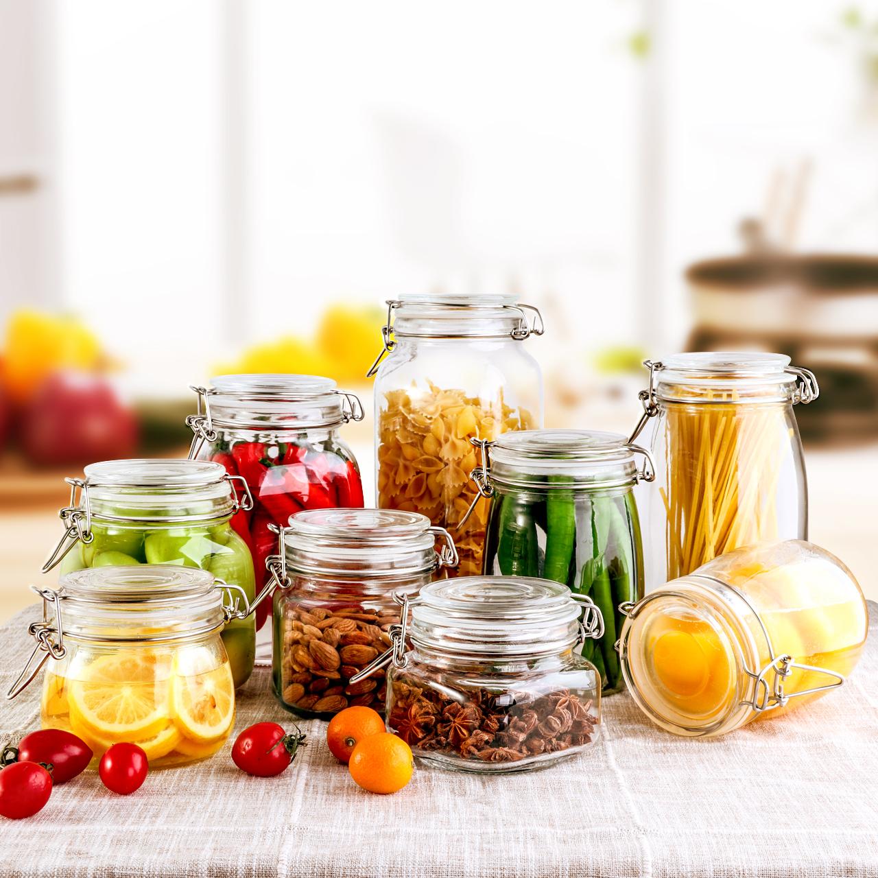 密封罐玻璃储物罐子蜂蜜柠檬食品罐头瓶百香果小泡菜坛子带盖瓶子