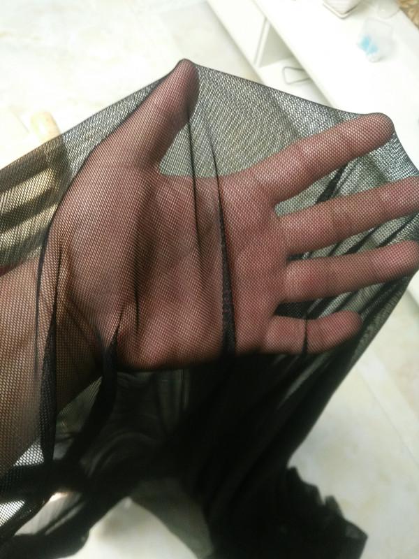 Черный белый эластичность мягкий марля сетка сетка от комаров хлопок материал свадьба свадьба ткань высокая эластичность марля