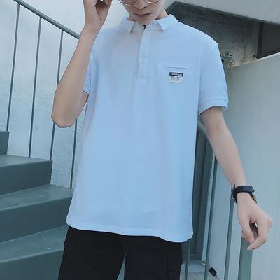 2018夏季新款贴布翻领短袖T恤衫 P008 p30 5XL加五元