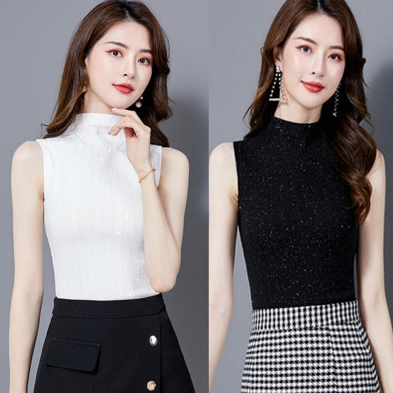 半高领打底衫女短袖t恤2020夏天新款修身半袖上衣纯色网纱体恤衫