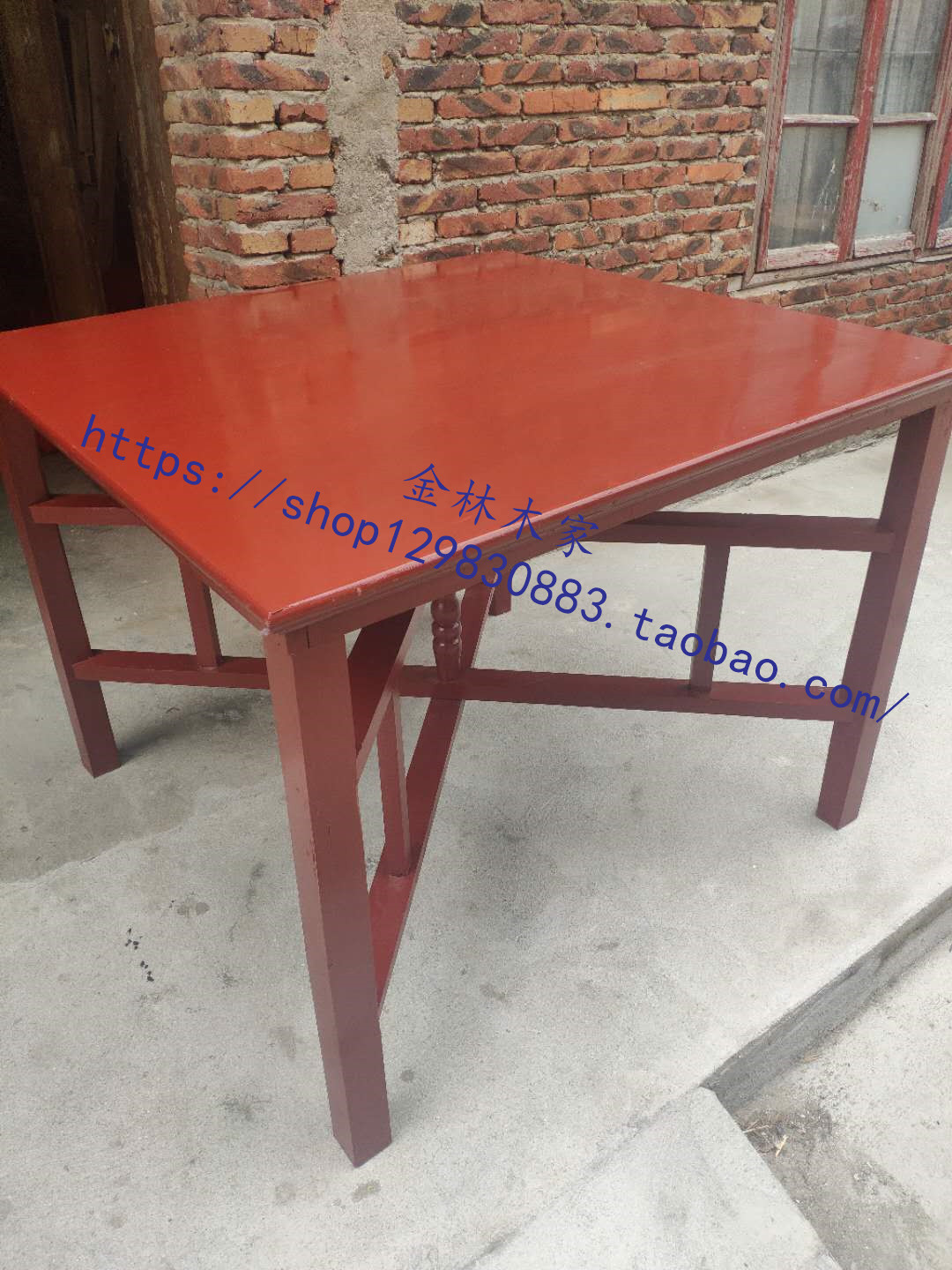 Chinese fir dining table red Chinese eight immortals table rural table household folding square table banquet table