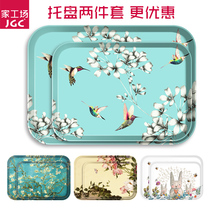 Pallet Rectangular Nordic Home modern tableware melamine plastic creative Fruit Plate tea tray European childrens dining plate