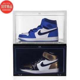 亚克力透明鞋盒防尘防氧化高帮球鞋收纳盒侧开门收藏展示抖音鞋柜