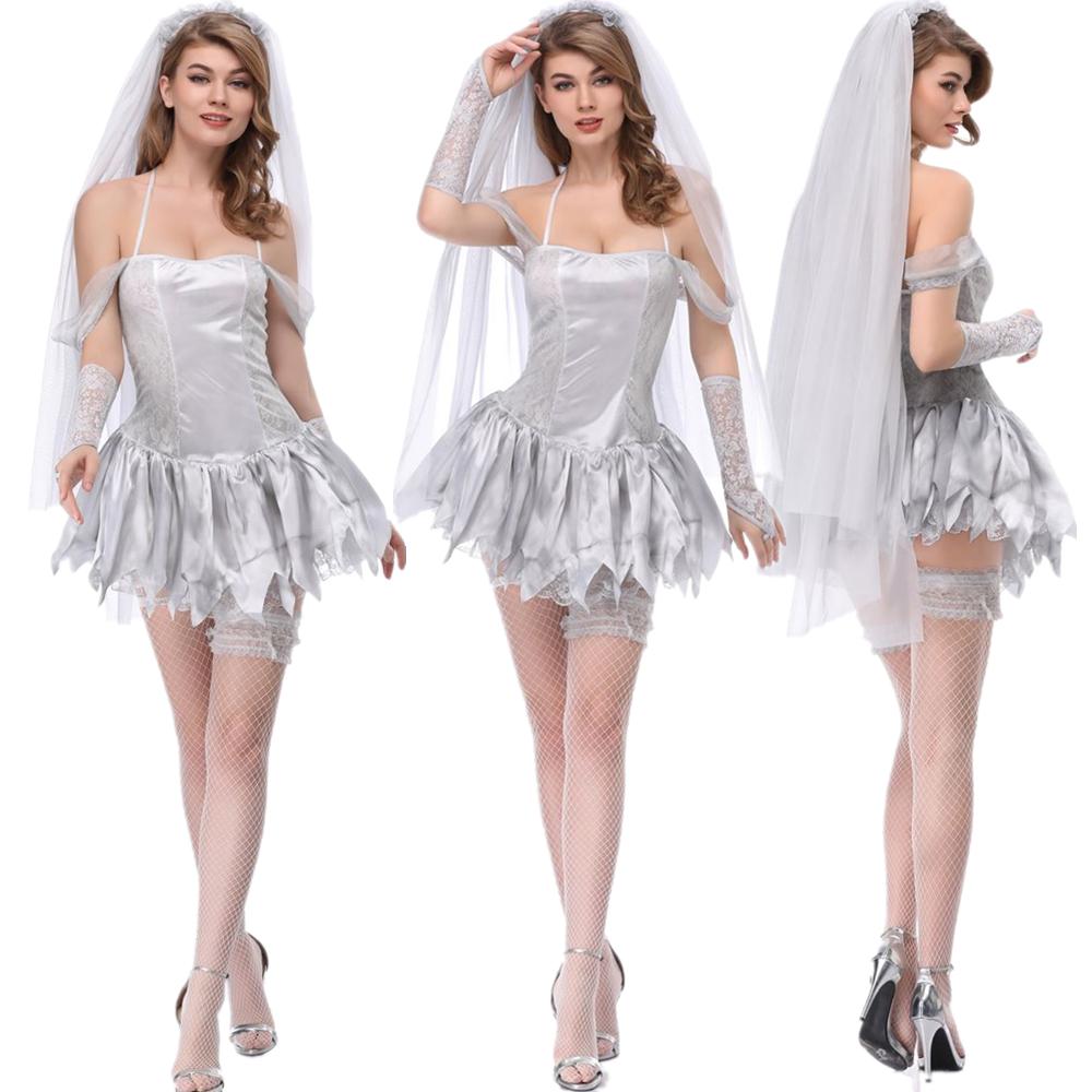万圣节服装成人女大人吸血鬼邪恶丧尸cos服恐怖女巫僵尸新娘衣服
