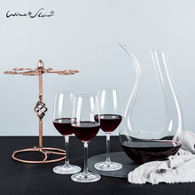 Red wine set home goblet 2/6 only imported crystal champagne glass European wine glass gift box