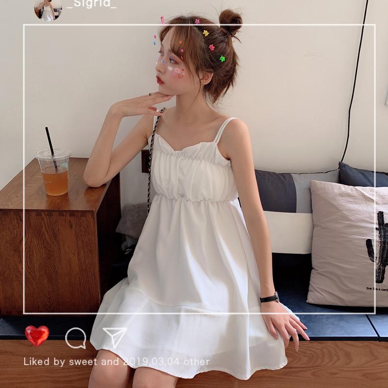 热销301件不包邮夏季韩版很仙的法式小众2019吊带裙