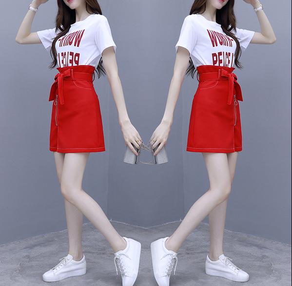 夏天很仙的法国小众连衣裙女2020新款夏装小个子流行高腰短裙套装