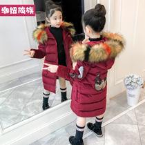 童装女童冬装2019新款韩版儿童棉服中大童金丝绒冬季加厚棉衣外套