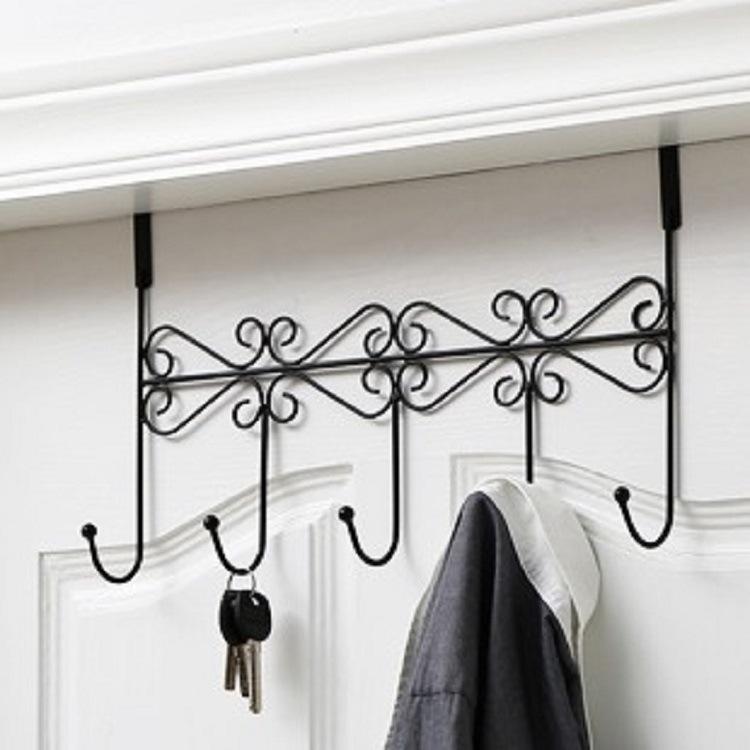 门后面的门背式挂门上的挂钩衣架挂衣钩欧式长排免打孔卧室免钉