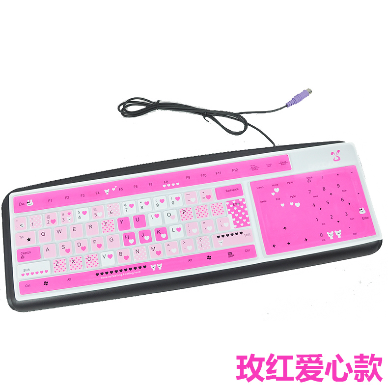 desktop computer keyboard film cartoon color transparent universal keyboard cover keyboard dust protection film