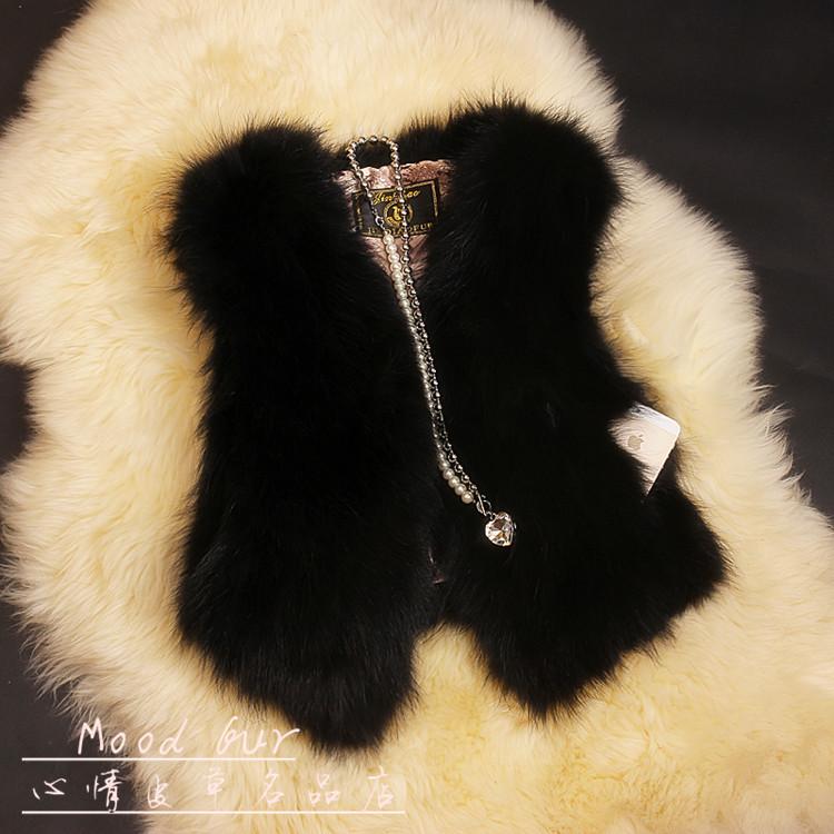 狐狸毛皮草外套女短款修身时尚马甲