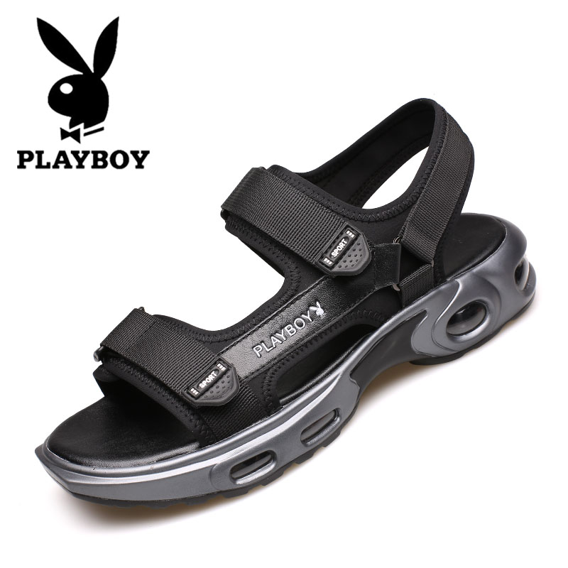 Playboy men's shoes summer 2020 new sandals men's trend Korean version heighten sports leisure breathable beach shoes