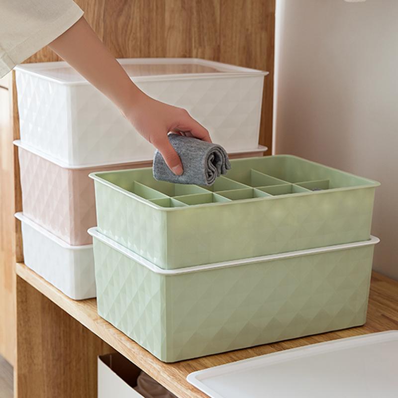 内衣收纳盒加大号塑料收纳箱文胸内裤袜子储物宿舍神器收纳整理箱