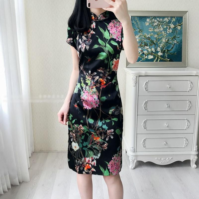 大码旗袍裙胖妹妹200斤夏瘦连衣裙