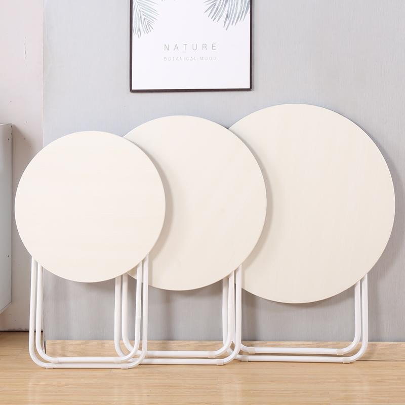 简易折叠圆桌家用小户型吃饭小桌子