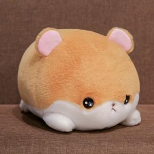 萌可爱趴姿鼠兔猫咪柴犬公仔毛绒玩具少女心丑萌抱枕小老鼠玩偶