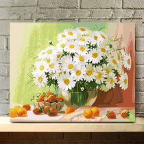 数字油画客厅水彩填充减压大人手工填色画手绘装饰油彩画diy易卓
