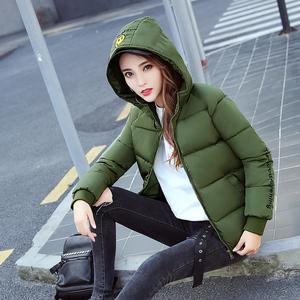 冬季羽绒棉服女韩版短款连帽百搭宽松学生面包服棉衣外套9908#