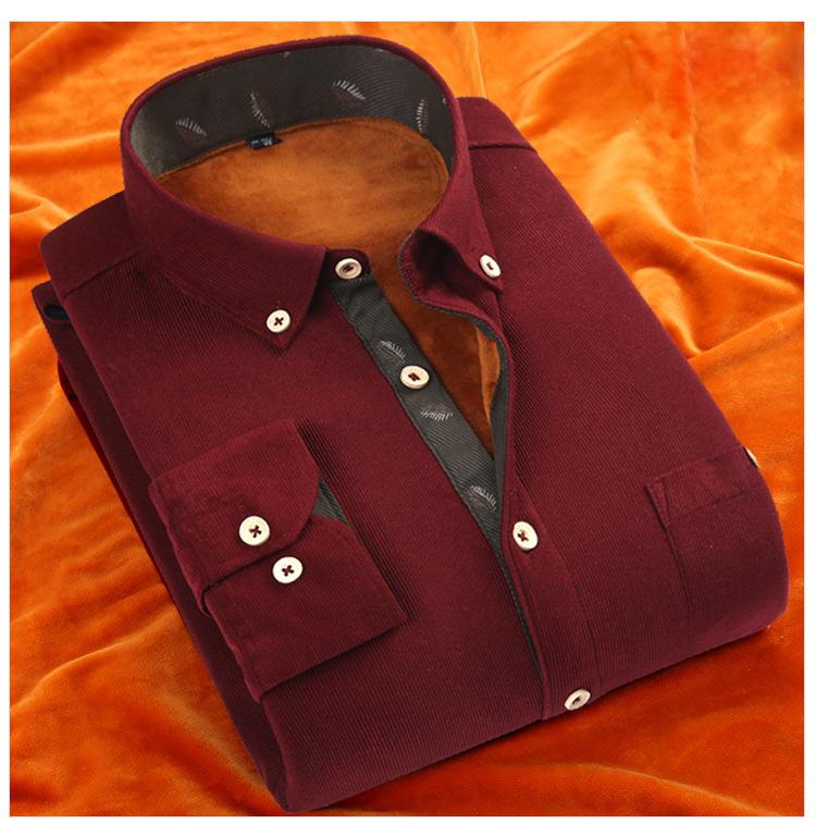 �棉冬季�r衣修身型�L袖商�漳醒b伴郎寸衫加厚加�q保暖�粜窘q�r衫