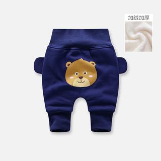 男宝宝加绒裤卡通棉裤婴幼儿保暖裤子儿童装女童加厚秋冬款护肚裤