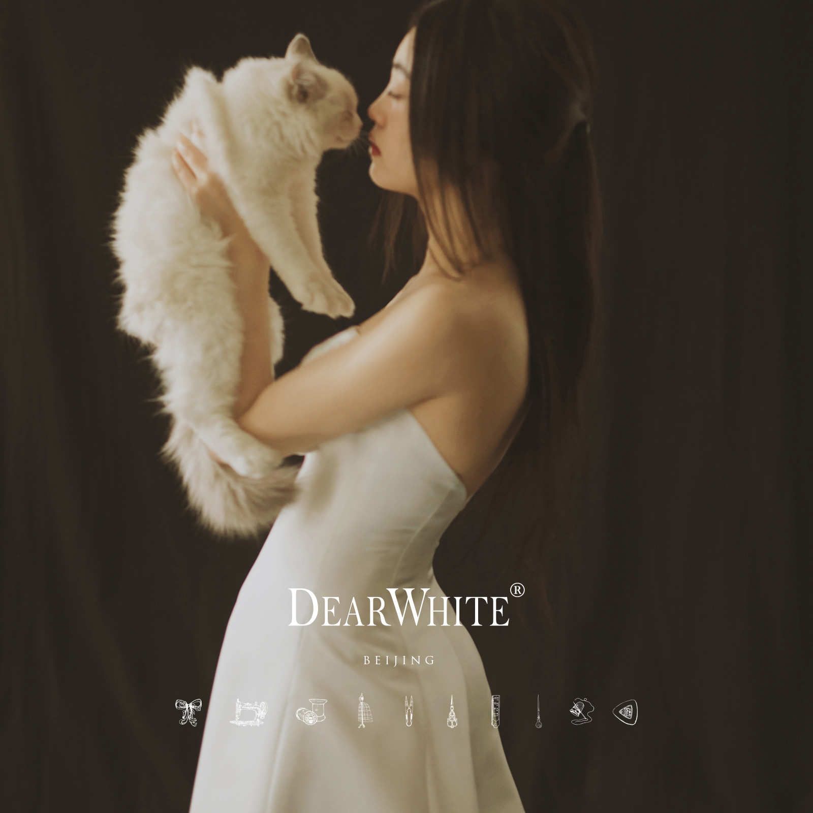 亲爱的白2019新款《素茧》轻婚纱旅拍新娘主森系简约小个子女缎面