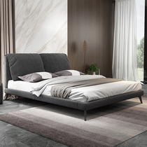 北欧气动储物布床卧室小户型可拆洗双人床榻榻米布艺床主卧